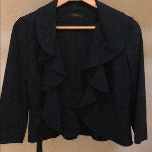 Waist Ruffle black blazer by Ann Taylor